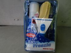 CarPlan - Easy Freezie Winter Pack - Includes : Screenwash 500ml, De-Icer 300ml, Easi-Grip Ice
