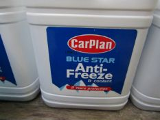 6x CarPlan - Blue Star Anti-Freeze & Coolant - 2 Litres Each - Sealed.