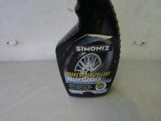 3x Simoniz - Brake Dust Repellent Alloy Cleaner - 500ml Each - Unused.