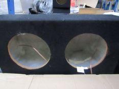 "XL Series - Double 10"" Sub Box (Bare Unit) - Unused."