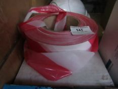 Red & White Barrier Tape - Unused & Boxed.