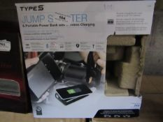 Type S - Jump Starter & Portable Power Bnak with Wireless Charging - Unchecked & Boxed.