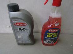 1x Carlube - Fully Synthetic 5w/30 Motor Oil C1 (1 Litre) - Sealed. 1x Carplan - Wheel Slik Wheel
