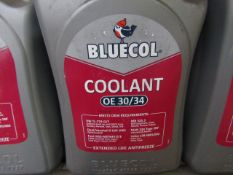 4x Bluecol - Coolant OE 30/34 - 5 Litres - Sealed.