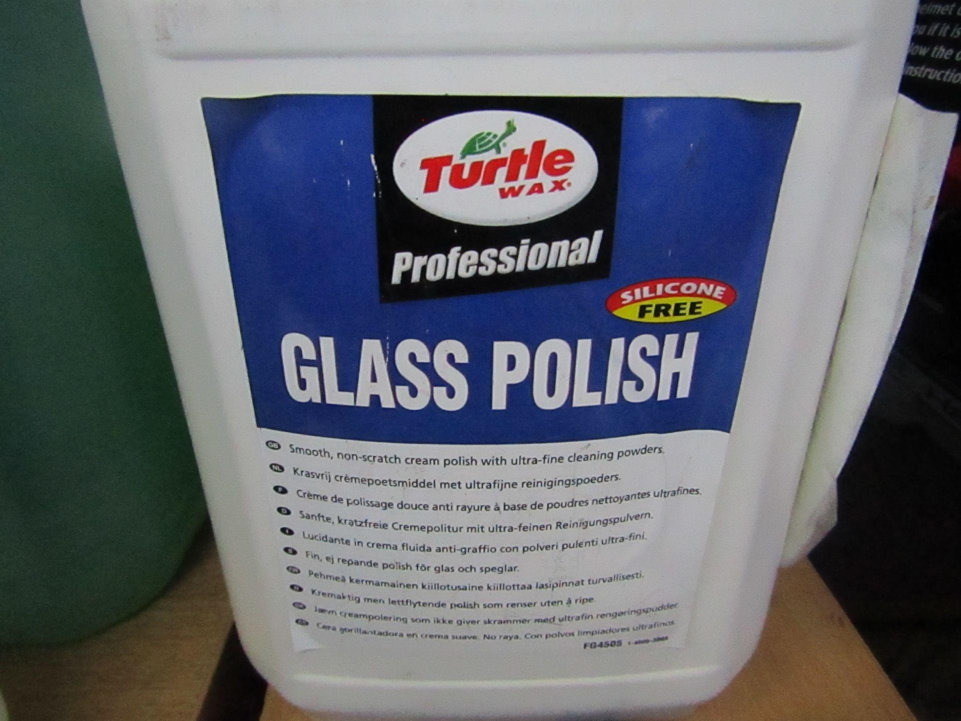 3x Turtle Wax - Glass Polish (Silicone Free) 5 Litres - Unused.