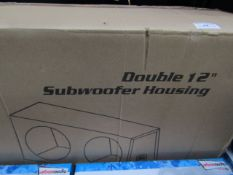 "XL Series - Double 12"" Subwoofer Box Housng (Bare Unit) - Unchecked & Boxed."