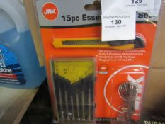 Jak - 15 Piece Essential Tool Set - All New & Packaged.