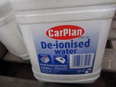 4x CarPlan - De-Ionised Water - 2.5 Litre Each - Sealed.