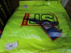 5x ST - Hi-Vis Yellow Work Shorts - Size Medium - Packaged.