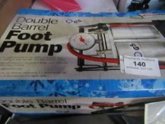 StreetWize - Double Barrel Foot Pump - Untested & Boxed.