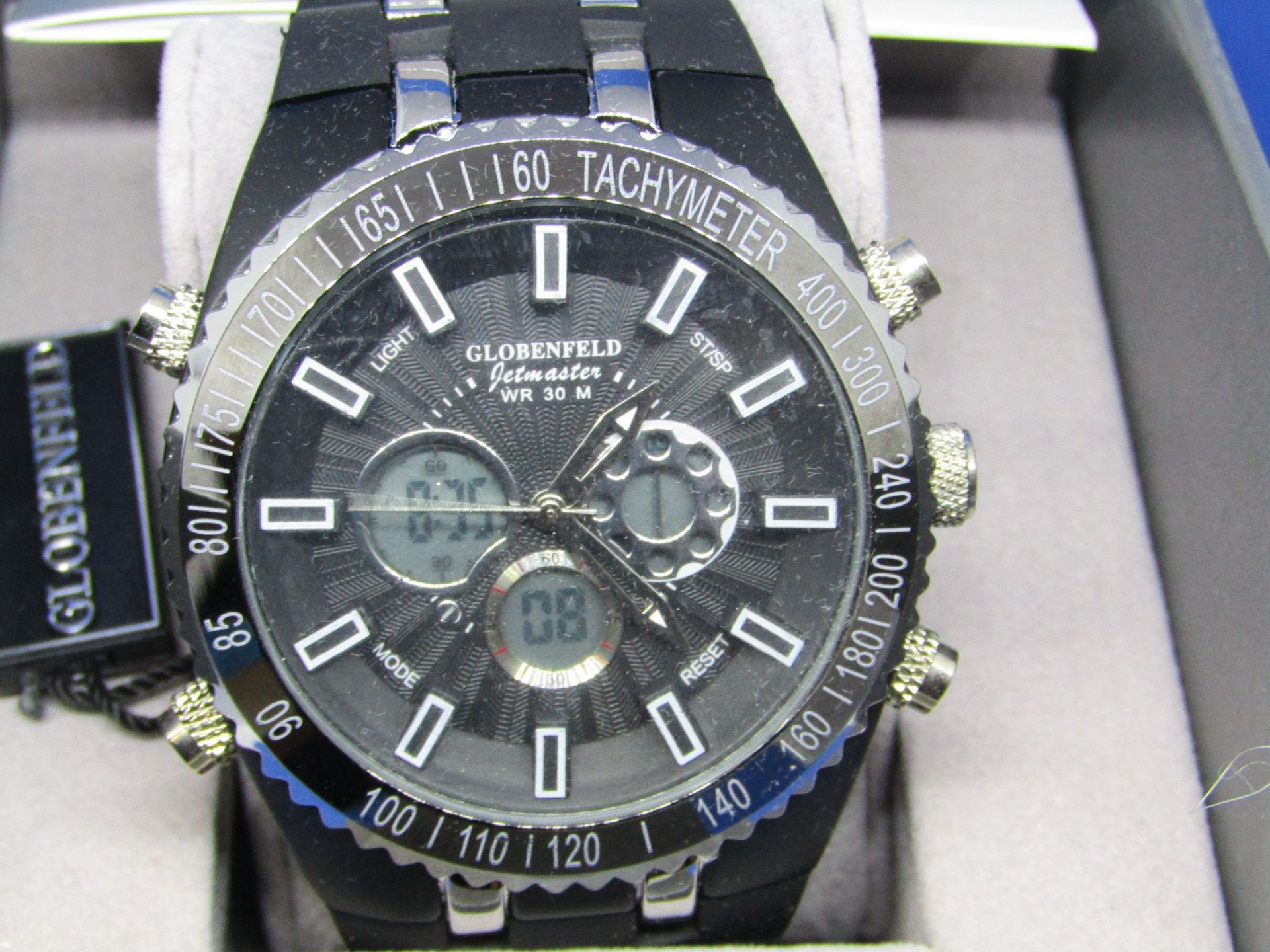 Globenfeld Jetmaster watch, new, ticking and boxed