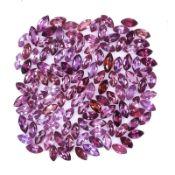 Natural Rhodolie Garnets - 23.20 carats - 100 pieces - average retail value £ 2,640.13