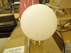 | 1X | RHEA WALL LIGHT IN BRASS | UNCHECKED AND BOXED | RRP £- |