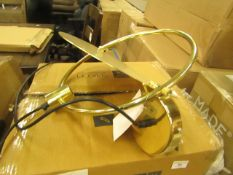 | 1X | SWOON MOIN PENDANT LIGHT IN BRASS | UNCHECKED AND BOXED | RRP £89 |