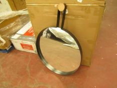 | 1X | MADE.COM 60CM ROUND WALL MIRROR | LOOKS IN GOOD CONDITON WITH ORIGINAL BOX |