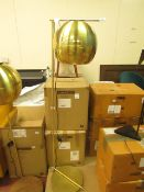 | 1X | SWOON RIGEL FLOOR LAMP IN BRASS | UNCHECKED AND BOXED | RRP £139 |