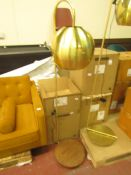 | 1X | SWOON ALGOL FLOOR LAMP IN WALNUT | UNCHECKED AND BOXED | RRP £139 |