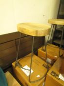 | 1X | SWOON WELLES BAR STOOL IN MANGO WOOD | UNCHECKED AND BOXED | RRP £149 |