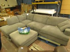 Costco section corner sofa with footstool, comes with feet (in the bag although not checked if all