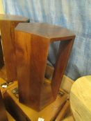| 1X | SWOON OSBY WOODEN SIDE TABLE IN WALNUT | UNCHECKED AND BOXED | RRP £119 |