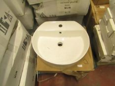 Victoria Plumb Lorenzo Wall Mounted Basin - new & Boxed
