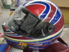 Hebo FCB Barcelona - Genuine MotorBike Helmet - Size Large - New & Boxed.