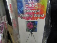 Asab - Telescopic Painting Stand (Includes Portable Bag) - Slight Crack On Side.