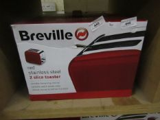 Breville - Stainless Steel Red - 2 Slice Toaster - Unchecked & Boxed.