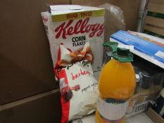 1x Kelloggs - Corn Flakes - 1Kg Box - BB 21/06/21 - Box Damaged. 1x PopChips - Barbeque - 311g -