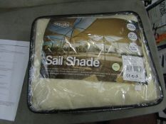 Asab Sail Shade. 3.6m x 3.6m Triangle. New & Packaged