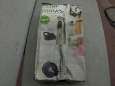 Salter - Nutritwist 500w Handheld Blender - Note Box May Be Water Damaged & Unchecked.