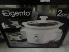 Elgento - 1.5 Litre Slow Cooker - Unchecked & Boxed.