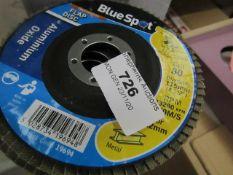 8 x Blue Spot Flap Discs. 80 Grit. Unused