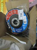 10 x Blue Spot Aluminium Oxide 60 Grit Flap Discs. Unused