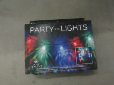2x Paladone - Party Wire Lights (Music Reactive) - Unused & Boxed.