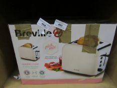 Breville - Vanilla Cream 2 Slice Toaster - unchecked & Boxed