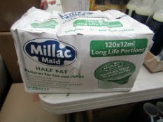 Millac Maid - Half Fat Whitener (120x12ml) - 22/09/20 - Box Crinkled.