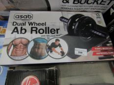 Asab Dual Wheel Ab Roller. Boxed