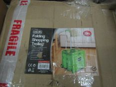 Asab Folding Shopping Trolley. Boxed but unchecked