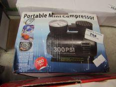 Portable Mini Compressor - 300PSI - Unchecked & Boxed.