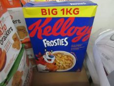 2x 1KG boxes of Kellogs Frosties BB19/06/21