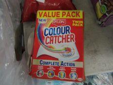 2x packs of Dylon colour a catcher sheets.