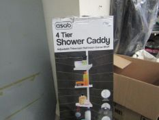 Asab - 4 Tier Shower Caddy (White) - Unchecked & Boxed.