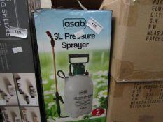 Asab - 3L Pressure Sprayer - Unchecked & Boxed.