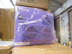 Ihome - Bluetooth Wireless Rechargeable Stereo Speaker - unchecked & Boxed