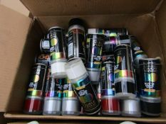 Box of Approx 20+ Hycote Sprays : Double Acrylic, Primer - Various Different Car Models & Assorted