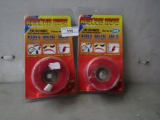2x Rescue Tape - Red Repair Tape - Unused & Packaged.