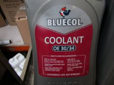 4x Bluecol - Coolant OE 30/34 - 5 Litres - Sealed.