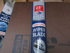 "10x Bluecol - 23"" Traditional Wiper Blade - All Packaged & Boxed. Box is Dirty."
