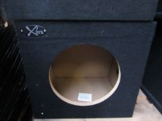 "XL Series - Single 10"" Trimmed Bass Box (Bare Unit) - All Unused."